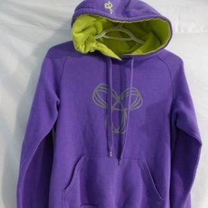 Aritzia TNA, medium, m, purple & yellow, hoodie.